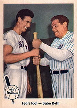 1959 Fleer Ted Williams #2 Ted Williams / Babe Ruth Front