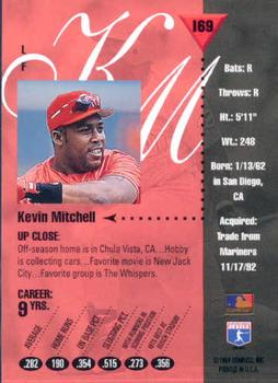 1994 Studio #169 Kevin Mitchell Back