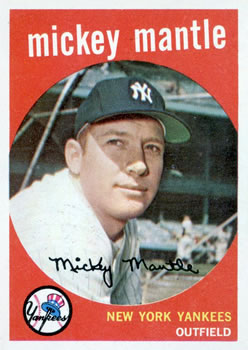 1959 Topps #10 Mickey Mantle Front