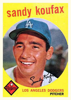 1959 Topps #163 Sandy Koufax Front