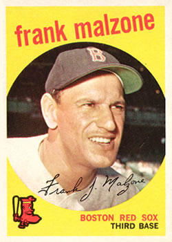 1959 Topps #220 Frank Malzone Front