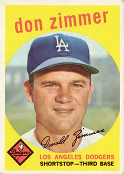 1959 Topps #287 Don Zimmer Front