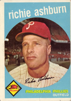 1959 Topps #300 Richie Ashburn Front