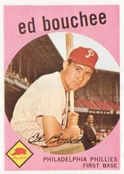 1959 Topps #39 Ed Bouchee Front