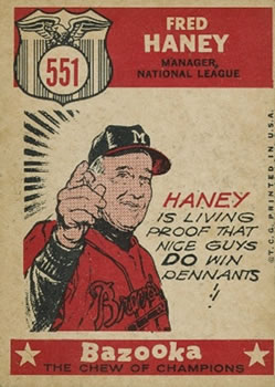 1959 Topps #551 Fred Haney Back