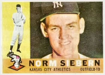 1960 Topps #11 Norm Siebern Front