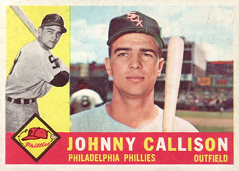 1960 Topps #17 Johnny Callison Front
