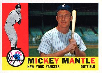 1960 Topps #350 Mickey Mantle Front