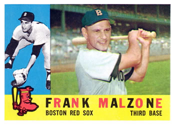 1960 Topps #310 Frank Malzone Front
