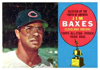 1960 Topps #318 Jim Baxes Front