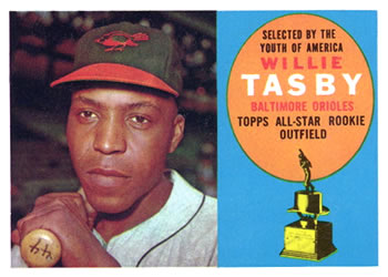 1960 Topps #322 Willie Tasby Front
