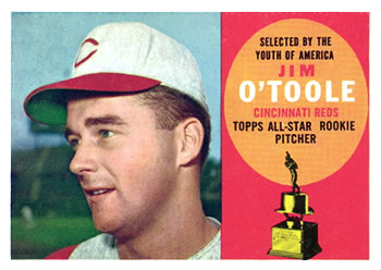 1960 Topps #325 Jim O'Toole Front