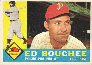 1960 Topps #347 Ed Bouchee Front