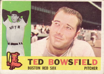 1960 Topps #382 Ted Bowsfield Front