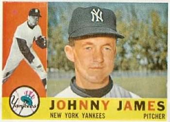 1961 Topps #457 Johnny James New York Yankees Los Angeles Angels Baseball Card