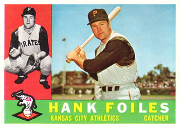 1960 Topps #77 Hank Foiles Front