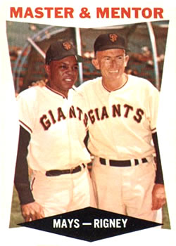 1960 Topps #7 Master and Mentor (Willie Mays, Bill Rigney) Front