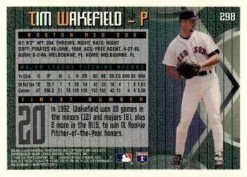 Tim Wakefield Gallery 1995 The Trading Card Database