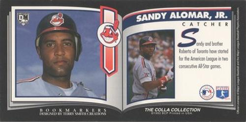 1993 Diamond Marks Bookmarkers #NNO Sandy Alomar Jr. Back