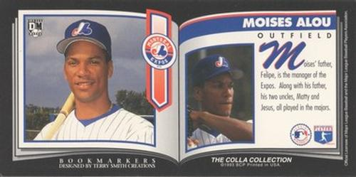 1993 Diamond Marks Bookmarkers #NNO Moises Alou Back