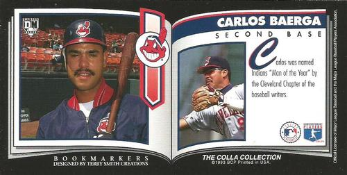 1993 Diamond Marks Bookmarkers #NNO Carlos Baerga Back