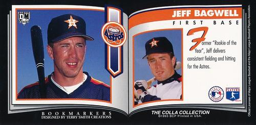 1993 Diamond Marks Bookmarkers #NNO Jeff Bagwell Back