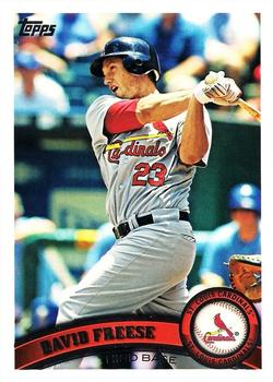 2011 Topps #452 David Freese  Front