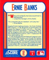 1990 Score - The MVPs #45 Ernie Banks Back