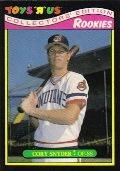 1987 Topps Toys 'R' Us Rookies #25 Cory Snyder Front