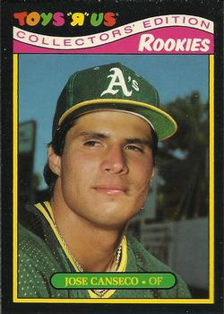 1987 Topps Toys 'R' Us Rookies #5 Jose Canseco Front