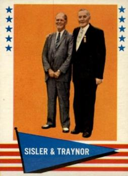 1961 Fleer Baseball Greats #89 George Sisler / Pie Traynor Front