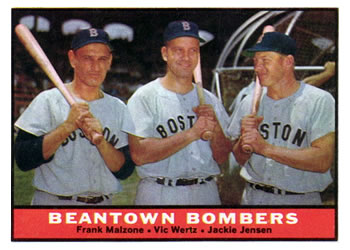 1961 Topps #173 Beantown Bombers Front