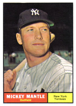 1961 Topps #300 Mickey Mantle Front