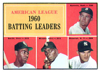 1961 Topps #42 American League 1960 Batting Leaders Front