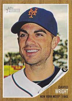 2011 Topps Heritage #478 David Wright Front