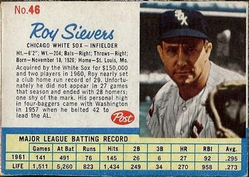 1962 Post Cereal Baseball Gallery The Trading Card Database