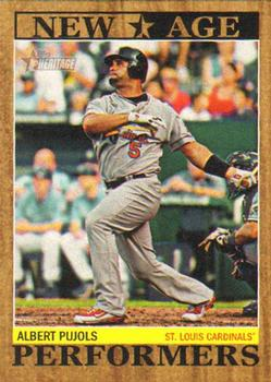 2011 Topps Heritage - New Age Performers #NAP-15 Albert Pujols Front