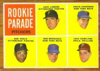 1962 Topps #593 Rookie Parade Pitchers Front