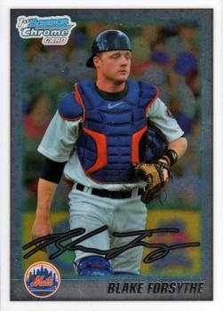 Blake Forsythe New York Mets 2011 Bowman Baseball Chrome Prospects Card