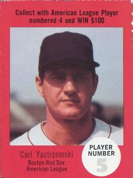 1968 Atlantic Oil Play Ball Contest Cards #NNO Carl Yastrzemski Front