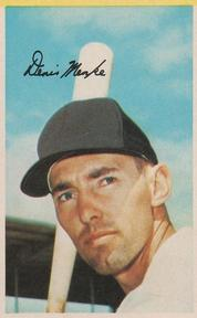 1969 MLB PhotoStamps #NNO Denis Menke Front