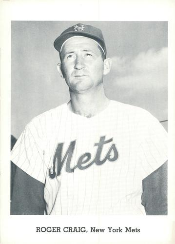 1962 Jay Publishing New York Mets #NNO Roger Craig Front