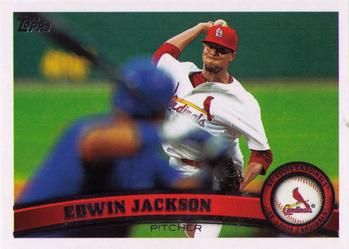 2011 Topps Update #US294 Edwin Jackson Front