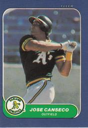 1986 Fleer Mini #87 Jose Canseco Front