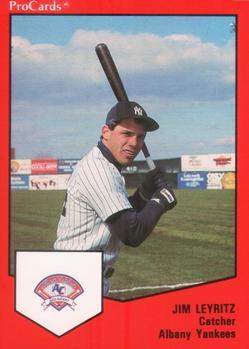 1989 ProCards #325 Jim Leyritz Front