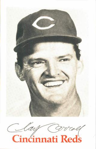 1970 Cincinnati Reds Photocards #NNO Clay Carroll Front