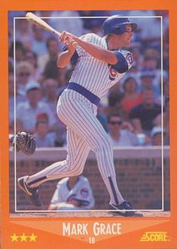 1988 Score Rookie & Traded - Glossy #80T Mark Grace Front