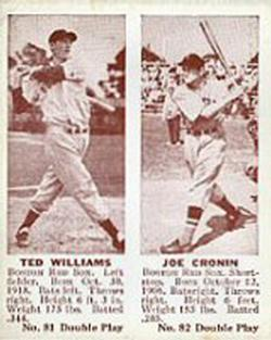 1941 Double Play #81 Ted Williams / Joe Cronin Front
