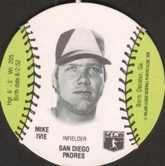 1977 Burger Chef Fun Meal Discs #NNO Mike Ivie Front