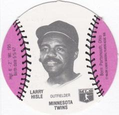 1977 Burger Chef Fun Meal Discs #NNO Larry Hisle Front